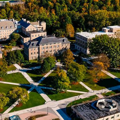 an aerial shot of the CALS ag quad
