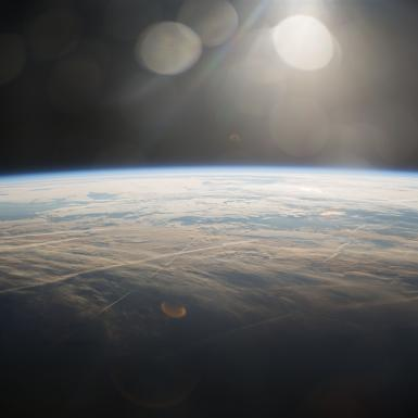 earth's horizon as seen from space