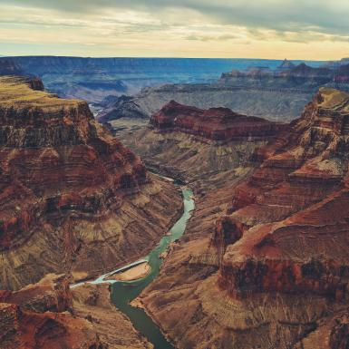 River running through the middle of the Grand Canyon