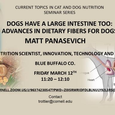 Matt Panasevich Presentation - Dogs have a large intestine too
