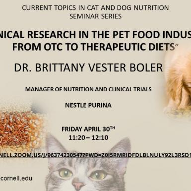 Clinical research in the pet food industry: From OTC to therapeutic diets