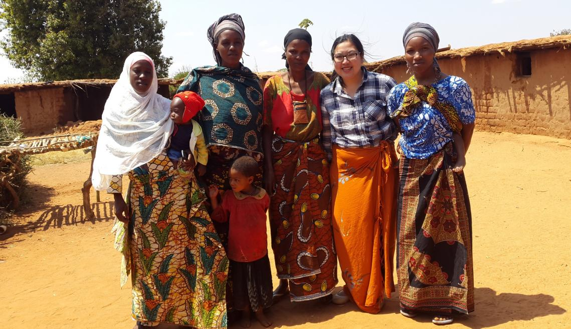 Group of women pose for photo in Tanzania