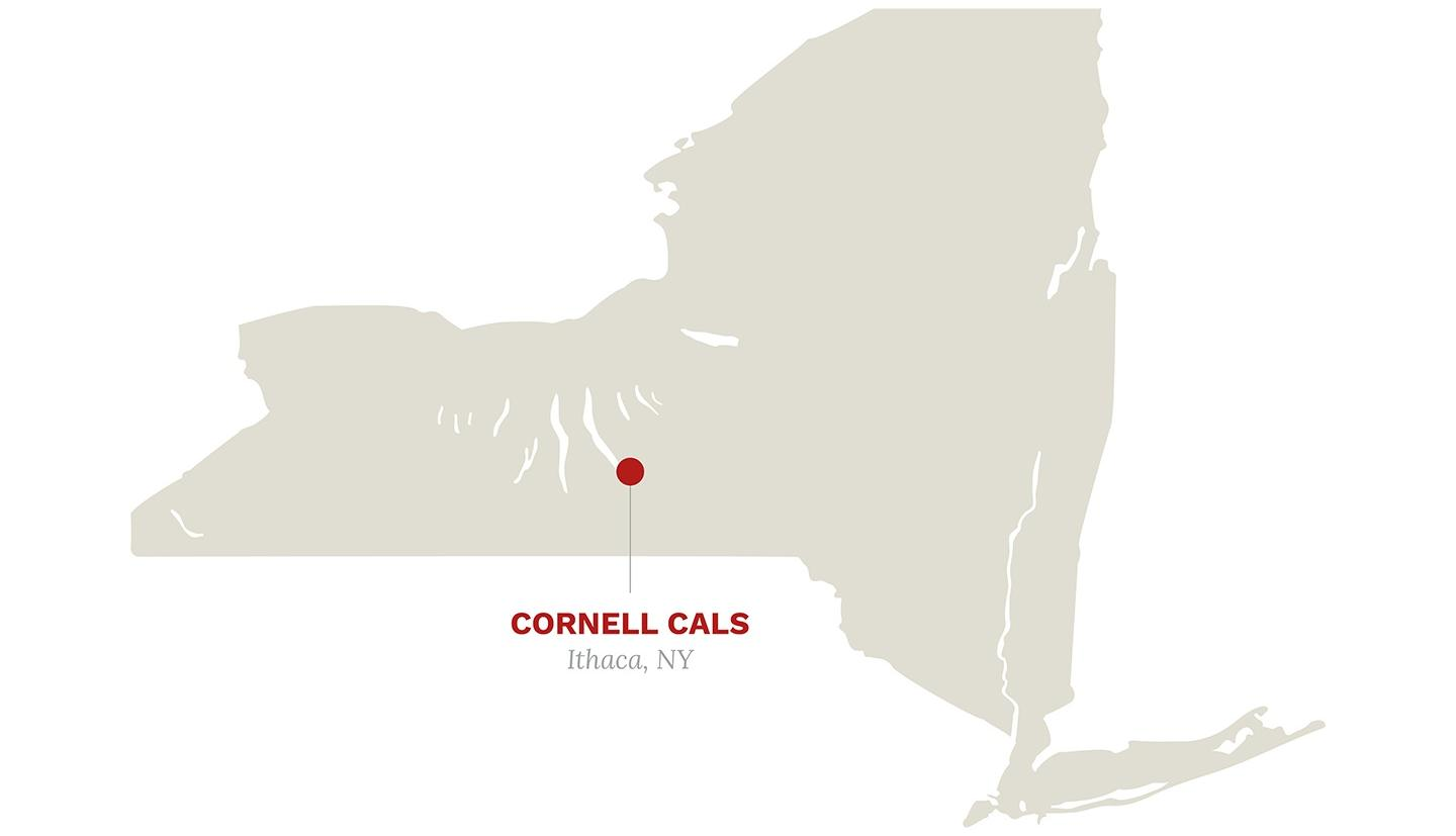 Interactive map of Cornell's locations around New York State.
