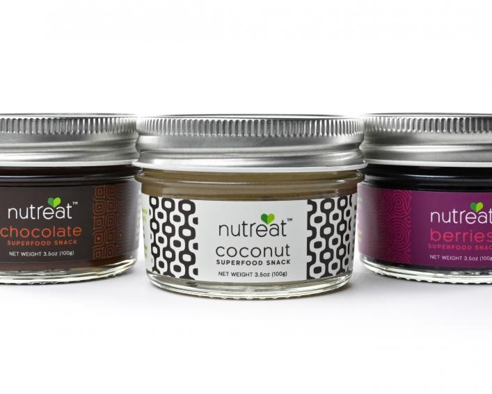 Three jars containing spreads